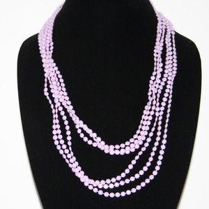 Vintage lavender 50 inch necklace
